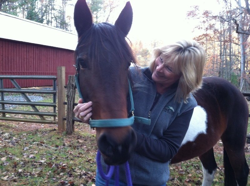 Willow and new owner, Denise!